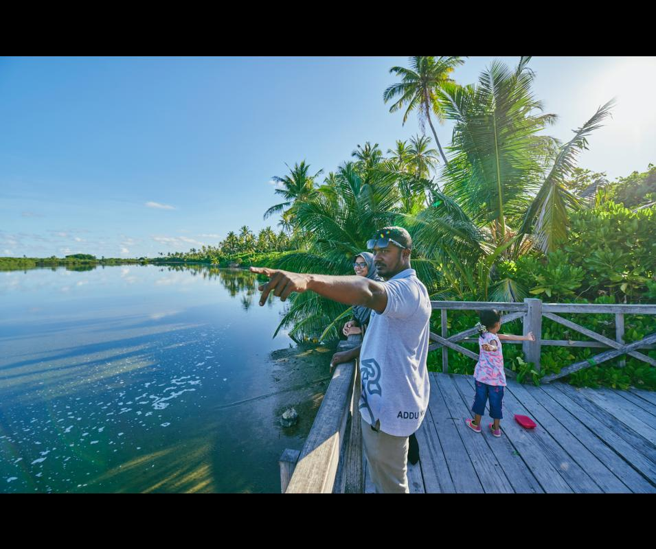 GCCA+ Adaptation to Climate Change in Maldives (Addu Nature Park) @Ali Nishan/Climate Tracker